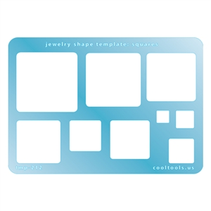 Jewelry Shape Template - Squares