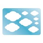 Jewelry Shape Template - Clouds