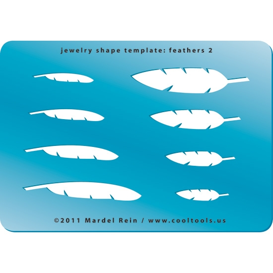 jewelry shape template feathers 1 cool tools