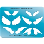 Jewelry Shape Template - Wings 2