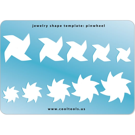 Jewelry Shape Template   Pinwheel   Cool Tools