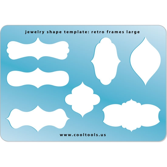 Jewelry Shape Template | Retro Frames Large | Cool Tools