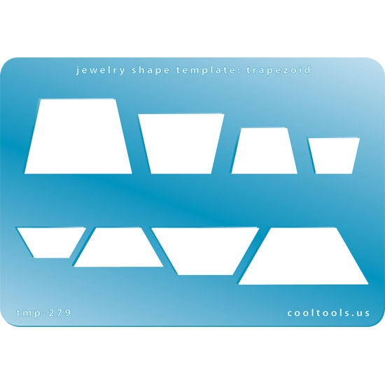 Jewelry Shape Template | Trapezoid | Cool Tools