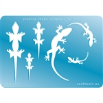 Jewelry Shape Template - Geckos