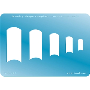 Jewelry Shape Template - Curved Rectangle
