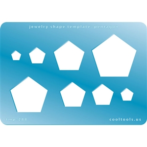 Jewelry Shape Template - Pentagon