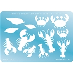 Jewelry Shape Template - Crabs & Lobster
