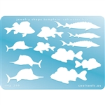 Jewelry Shape Template - Saltwater Fish