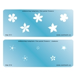 Embossing Template Set - Five Petal Flowers