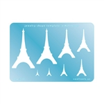 Jewelry Shape Template - Eiffel Tower