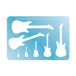 Jewelry Shape Template - Electric Guitar
