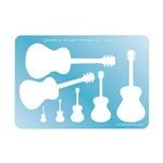 Jewelry Shape Template - Guitar