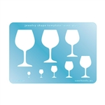 Jewelry Shape Template - Wine Glass
