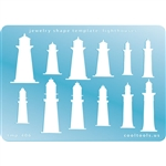 Jewelry Shape Template - Lighthouses