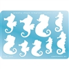 Jewelry Shape Template - Seahorses
