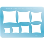 Jewelry Shape Template - Pinched Square