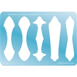 Jewelry Shape Template - Fancy Bails Large 2