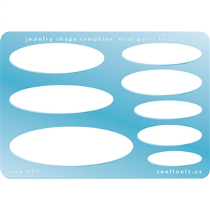 Jewelry Shape Template - Oval Pairs Large 2