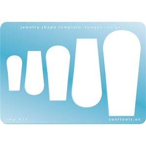 Jewelry Shape Template - Tongues Large 2
