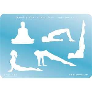 Jewelry Shape Template - Yoga Poses 2