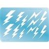 Jewelry Shape Template - Lightning Bolts