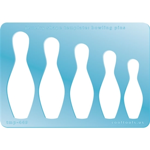 Jewelry Shape Template - Bowling Pins