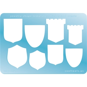 Jewelry Shape Template - Shields and Crests