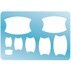 Jewelry Shape Template - Shield 4