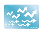 Jewelry Shape Template - Directional Arrows 1