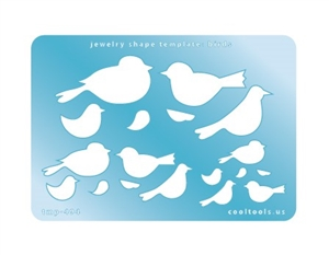 Jewelry Shape Template - Birds