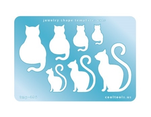Jewelry Shape Template - Cats
