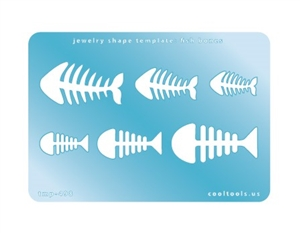 Jewelry Shape Template - Fish Bones