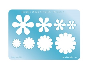 Jewelry Shape Template - Flowers 1