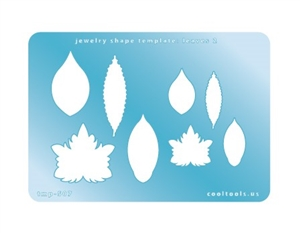 Jewelry Shape Template - Leaves 2