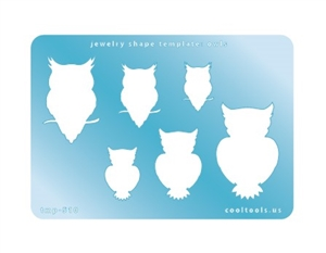 Jewelry Shape Template - Owls