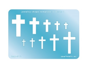 Jewelry Shape Template - Crosses 1