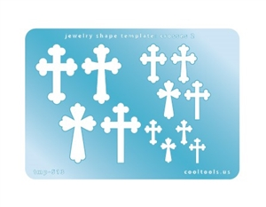 Jewelry Shape Template - Crosses 2