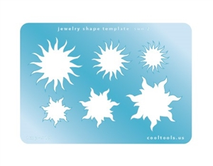 Jewelry Shape Template - Sun 2
