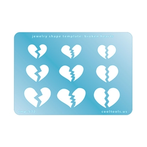 Jewelry Shape Template - Broken Hearts