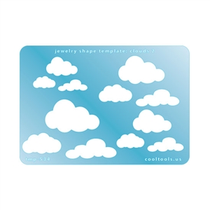 Jewelry Shape Template - Clouds 2