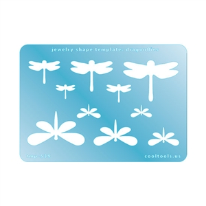 Jewelry Shape Template - Dragonflies