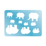 Jewelry Shape Template - Elephants