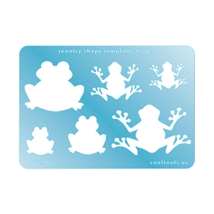 Jewelry Shape Template - Frogs