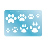 Jewelry Shape Template - Paw Prints