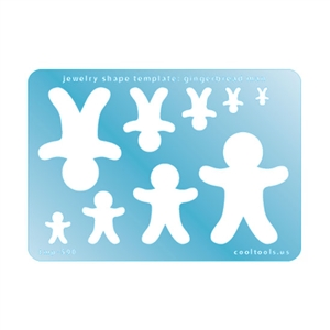 Jewelry Shape Template - Gingerbread Man
