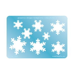 Jewelry Shape Template - Snowflake 2