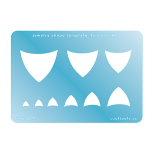 Jewelry Shape Template - Fancy Shield