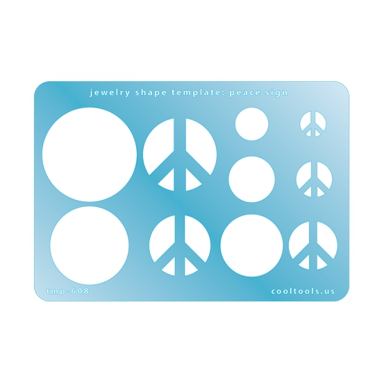 Jewelry shape template peace sign cool tools jewelry shape template peace sign maxwellsz