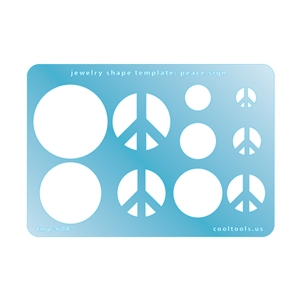 Jewelry Shape Template - Peace Sign