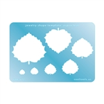 Jewelry Shape Template - Aspen Leaf